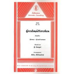 Langer, Gustav: Großmütterchen op.20: für Salonorchester