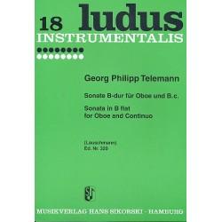 Telemann, Georg Philipp: Sonate B-Dur : für Oboe und Klavier
