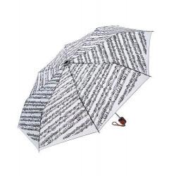 Regenschirm mit Noten Für Elise weiß Taschenschirm