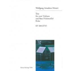 Mozart, Wolfgang Amadeus: Trio KV266 : für 2 Violinen und Baß (Violoncello) Stimmen