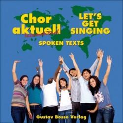 Chor aktuell international : CD gesprochene Texte - Aussprachehilfe