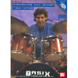 Gottlieb, Danny: Intermediate Rock Drumset Chart (+DVD-Video)