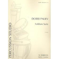 Paliev, Dobri: Folklore-Suite : f├╝r 4 Pauken Stimmen