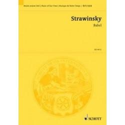 Strawinsky, Igor: BABEL KANTATE MIT ORCHESTER UND ERZAEHLER STUDIENPARTITUR