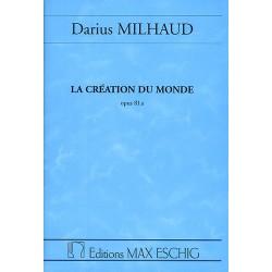 Milhaud, Darius: La creation du monde op.81a : Ballet / Studienpartitur