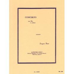 Ibert, Jacques: Concerto : pour flûte et orchestre partition miniature