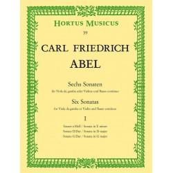 Abel, Karl Friedrich: 6 Sonaten Band 1 : für Viola da gamba und Bc Stimmen