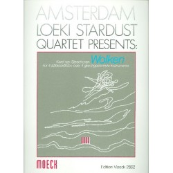 Steenhoven, Karel van: Wolken : für 4 Altblockflöten Partitur und Stimmen