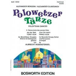 Borodin, Alexander: Polowetzer T├ñnze aus F├╝rst Igor : f├╝r 4 Blockfl├Âten (SATB) Partitur