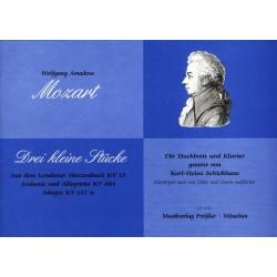 Mozart, Wolfgang Amadeus: 3 kleine Stücke : für Hackbrett und Klavier