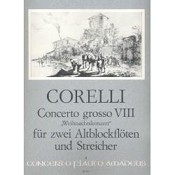 Corelli, Arcangelo: Concerto grosso g-Moll op.6,8 : für 2 Altblockflöten, Streicher und Bc