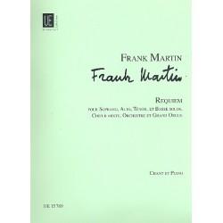 Martin, Frank: Requiem : für Soli (SATB), Chor, Orchester und Orgel Klavierauszug