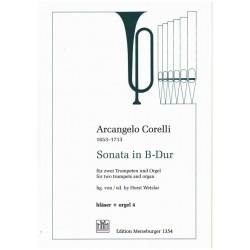 Corelli, Arcangelo: Sonate B-Dur für 2 Trompeten und Orgel