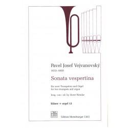 Vejvanovsky, Pavel Josef: Sonata vespertina B-Dur für 2 Trompeten und Orgel