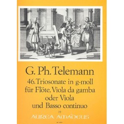 Telemann, Georg Philipp: Triosonate g-Moll Nr.46 für Flöte, Viola da gamba und Bc
