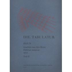 Hove, Joachim van den: Delitiae musicae (1612) Band 2 : für Laute