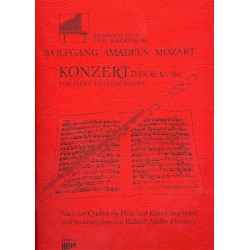 Mozart, Wolfgang Amadeus: Konzert D-Dur KV314 : f├╝r 4 FL├Âten und Klavier Partitur+Stimmen