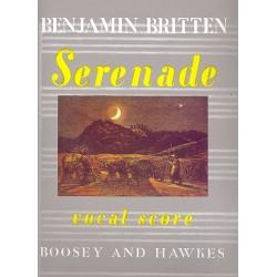 Britten, Benjamin: Serenade op.31: für Tenor, Horn und Streicher Klavierauszug