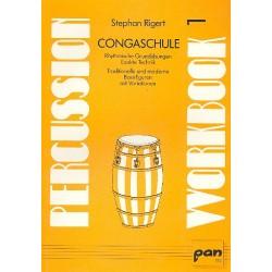 Rigert, Stephan: Congaschule : Percussion Workbook 1 : Rhythmische Grund├╝bungen, exakte Technik
