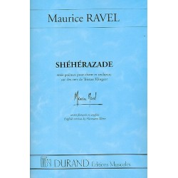 Ravel, Maurice: Sheherazade 3 poèmes pour chant et orchestre partition de poche