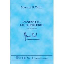 Ravel, Maurice: L'enfant et les sortilèges : pour orchestre partition miniature