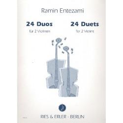Entezami, Ramin: 24 Duos : für 2 Violinen Spielpartitur
