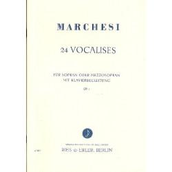 Marchesi, Mathilde C.: 24 Vocalises op.2 : für Sopran (Mezzosopran) und Klavier Klavier