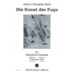 Bach, Johann Sebastian: Die Kunst der Fuge : f├╝r 4 Saxophone Partitur und Stimmen