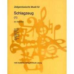 ZEITGENOESSISCHE MUSIK : FUER SCHLAGZEUG (1) SCHENKER, G. , ED.