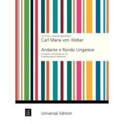 Weber, Carl Maria von: Andante e Rondo Ungarese op.35 für Fagott und Orchester Fagott und Klavier