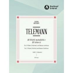 Telemann, Georg Philipp: Trietto und scherzo Nr.1 : für 2 Flöten und Bc