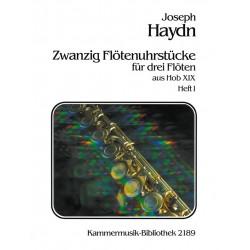 Haydn, Franz Joseph: 20 Flötenuhrstücke aus Hob.XIX Band 1 : für 3 Flöten