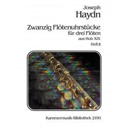 Haydn, Franz Joseph: 20 Flötenuhrstücke aus Hob.XIX Band 2 : für 3 Flöten