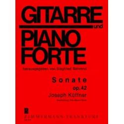 Küffner, Joseph: Sonate op.42 : für Gitarre und Klavier