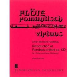 Fürstenau, Anton Bernhard: Introduction et rondeau brillant op.132 : für 2 Flöten und Klavier