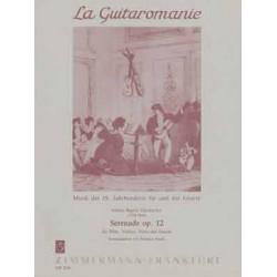 Gänsbacher, Johann Baptist: Serenade op.12 : für Flöte, Violine, Viola und Gitarre