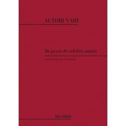 26 pezzi di celebri autori transcritti per 2 clarinetti