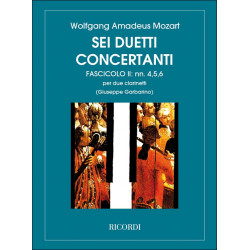 Mozart, Wolfgang Amadeus: 6 duetti concertanto vol.2 (nos.4-6) : per 2 clarinetti