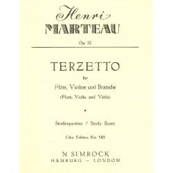 Marteau, Henri: Terzetto op.32 für Flöte, Violine und Viola Studienpartitur