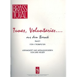 Tunes Voluntaries Band 2 für 4 Trompeten