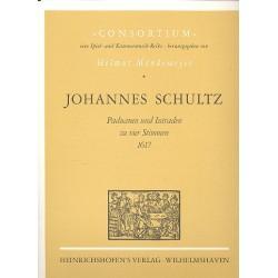 Schultz, Johannes: Paduanen und Intraden zu 4 Stimmen von 1617 Partitur und Stimmen