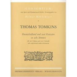 Tomlins, Thomas: Pavan, Galliard und 2 Fantasien : zu 6 Stimmen (4 Violinen, 2 Violoncelli) Partitur und Stimmen