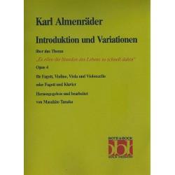 Introduktion und Variationen über Es eilen die die Stunden op.4 : für Fagott, Violine, Viola und Violoncello