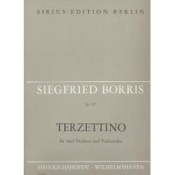 Borris, Siegfried: Terzetto op.125 : für 2 Violinen und Violoncello Partitur und Stimmen