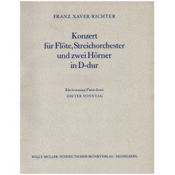 Richter, Franz Xaver: Konzert D-Dur f├╝r Fl├Âte und Kammerorchester : f├╝r Fl├Âte und Klavier