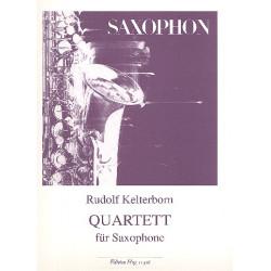 Kelterborn, Rudolf: Quartett für Saxophone (AATB) Partitur und Stimmen von 1978/1979