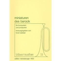 Minaturen des Barock : für 2 Trompeten und 2 Posaunen