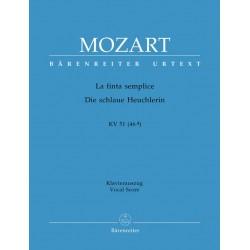 Mozart, Wolfgang Amadeus: La finta semplice KV51 Klavierauszug (it/dt)