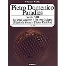 Paradisi, Pietro Domenico: SONATE NR. 8 : FUER 2 GITARREN ZEHM, FRIEDRICH, ED. KREIDLER, DIETER, ED.