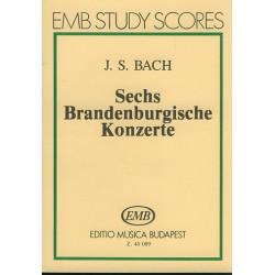 Bach, Johann Sebastian: 6 Brandenburgische Konzerte Studienpartitur